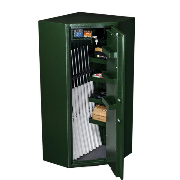 Wapenkluis-MSGC03B-open-NL-90-groen Mustang Safes