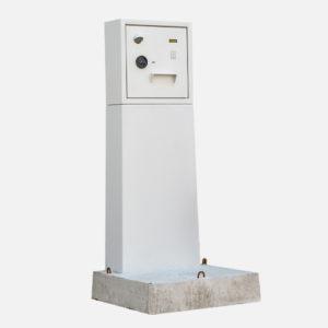 Sleuteluitgifte systeem op beton sokkel