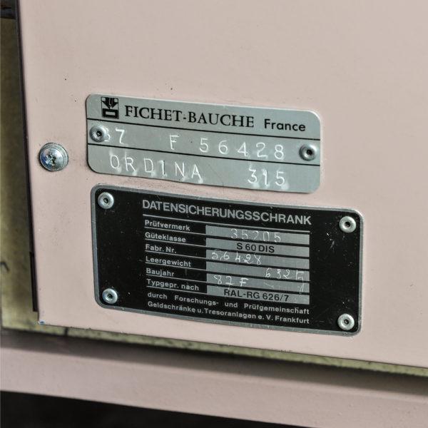 Occ 1545 Fichet Bauche datakluis - Mustang Safes