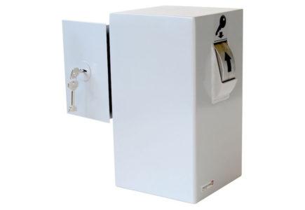 Keysecuritybox KSB102 opbouw sleutel afstortkluis (Rol rechts, deur links) - Mustang Safes