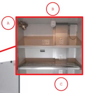 Brandwerende dubbeldeurs Veiligheidskast voor Li-ion accu's