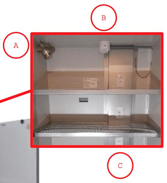 C: Stroomvoorziening; 4x dubbel stopcontact 220v geïntegreerd