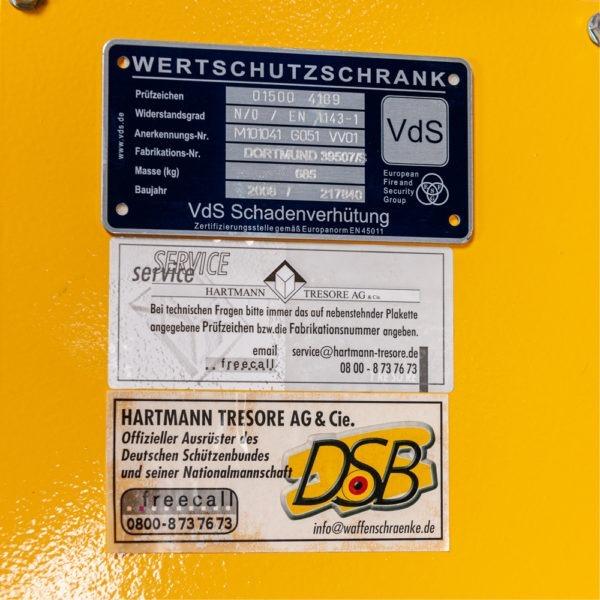 Hartmann wapenkluis voor 16 geweren – Euroklasse 0 – Occ1631